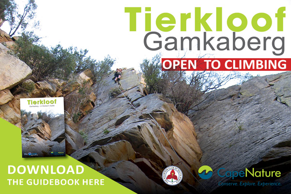 Gamkaberg is now OPEN to climbing