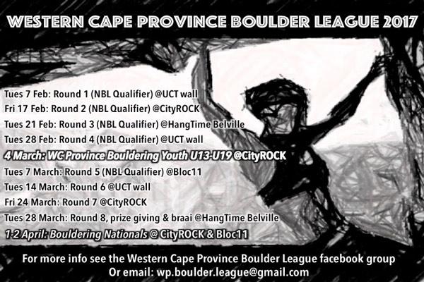 Western Cape Boulder League 2017