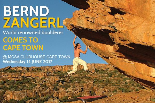 Bernd Zangerl Comes to Cape Town