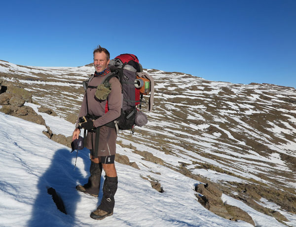 Grant on the slopes of Thabana